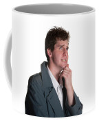 Young Man In Trench Coat Coffee Mug