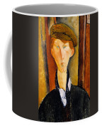 Young Man With Cap Coffee Mug
