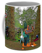 Young Musicians On Orange Day By A Canal In Enkhuizen-netherland Coffee Mug