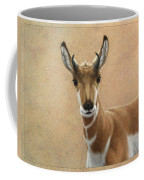 Young Pronghorn Coffee Mug by James W Johnson