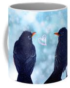 Young Robins In Love Coffee Mug