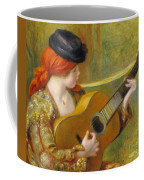 Young Spanish Woman With A Guitar Coffee Mug by Pierre Auguste Renoir