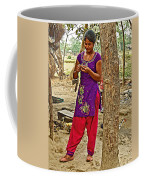 Young Tharu Village Woman In Traditional Nepali Clothing-nepal  Coffee Mug