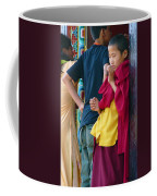 Young Tibetan Monk Coffee Mug by Dagmar Batyahav
