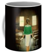 Young Woman Balancing A Book On Her Head Coffee Mug