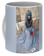 Young Woman Busker In Syracusa Sicily Coffee Mug