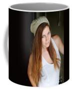 Young Woman Hallway Coffee Mug