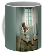 Young Woman In A Chair Coffee Mug