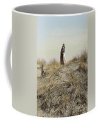Young Woman In Cloak On A Hill Coffee Mug