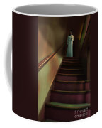 Young Woman In Nightgown On Stairs Coffee Mug by Jill Battaglia