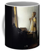 Young Woman With A Pearl Necklace Coffee Mug