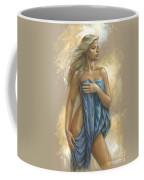 Young Woman With Blue Drape Coffee Mug
