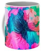 Yucca Abstract Pink Blue Green Coffee Mug