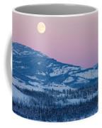Yukon Canada Winter Landscape And Full Moon Rising Coffee Mug
