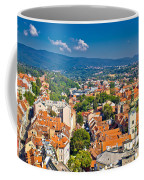 Zagreb Capital Of Croatia Aerial View Coffee Mug
