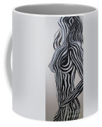 Zebra Body Paint Coffee Mug