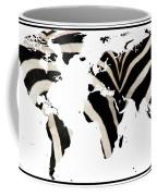 Zebra Fur World Map Coffee Mug