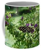 Zebra Longwing Butterfly On Flower Coffee Mug