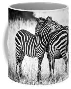 Zebra Love Coffee Mug by Adam Romanowicz