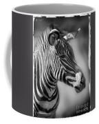Zebra Profile In Black And White Coffee Mug