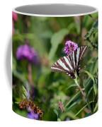 Zebra Swallowtail Butterfly In Garden Coffee Mug