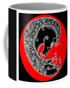 Zen Horse Black Coffee Mug