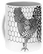 Zentangle Rooster Coffee Mug