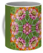 Zinging Zinnia Kaleidoscope Coffee Mug