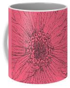 Zinnia In Pencil  Coffee Mug