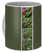 Zinnias 4 Panel Vertical Composite Coffee Mug