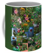 Zinnias Collage Square Coffee Mug