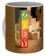 Zoey - Alphabet Blocks Coffee Mug