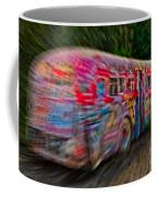 Zooming Graffiti Bus Coffee Mug
