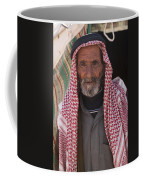 A Bedouin Man At The Camera In Front Coffee Mug by Taylor S. Kennedy