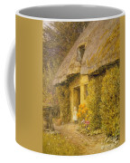 A Child At The Doorway Of A Thatched Cottage  Coffee Mug