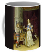 A Lady At Her Toilet Coffee Mug by Gerard ter Borch