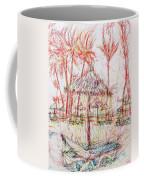 Beach Umbrella Portrait Coffee Mug