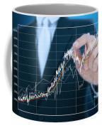 Businessman Writing Graph Of Stock Market  Coffee Mug by Setsiri Silapasuwanchai