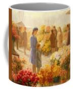Flower Market  Coffee Mug by Hendrik Heyligers