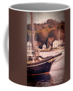 Old Ship Docked On The River Coffee Mug