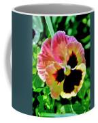 Pink And Yellow Pansy Coffee Mug