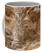 Stairs Lead Up A Rock Face In Little Coffee Mug by Taylor S. Kennedy