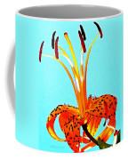 Turquoise And Tiger Lily Coffee Mug