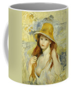 Young Girl With A Straw Hat Coffee Mug