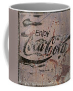 Coca Cola Sign Grungy Retro Style Coffee Mug