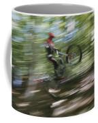 A Boy Flies Through The Air Coffee Mug