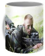 A British Soldier Armed With A Sa80 Coffee Mug