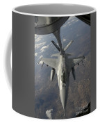 A Chilean Air Force F-16 Refuels Coffee Mug
