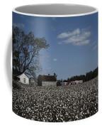 A Cotton Field Surrounds A Small Farm Coffee Mug
