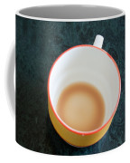 A Cup With The Remains Of Tea On A Green Table Coffee Mug